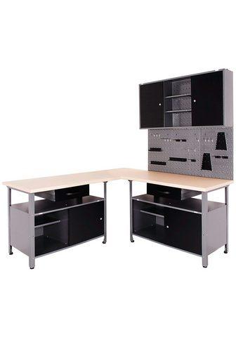 ONDIS24 Werkstatt-Set (Set 4-tlg) su 2 Werkbän...