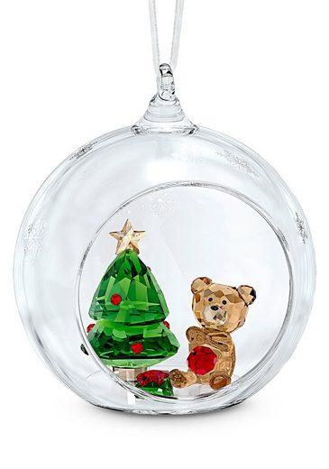 Swarovski Dekofigur »Weihnachtskugel, Weihnachtsszene, 5533942« (1 Stück), Swarovski® Kristall mit schwarzem Emaille