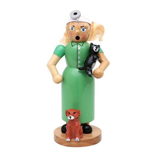 SIGRO Räuchermännchen »Holz Räucherfrau Tierärztin«