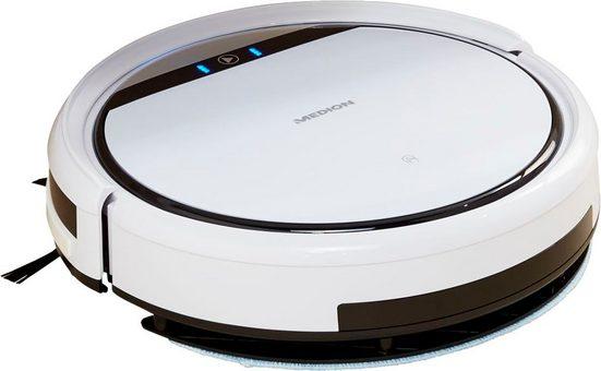 Medion® Saugroboter mit Wischfunktion MD 10064, 20 Watt, + erweitertes Ersatzteilset + systematische Navigation
