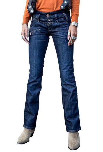 Freeman T. Porter Gerade Jeans »Amelie stretch Denim eclipse«