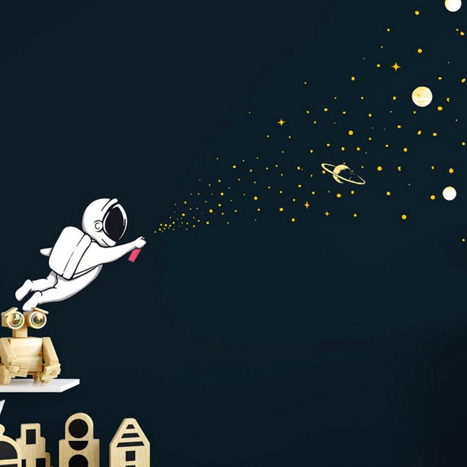 Sunnywall Wandtattoo »Astronaut mit Spraydose Sternenzauber   Weltraum  Wandtattoo Kollektion   Wandaufkleber« online kaufen   OTTO