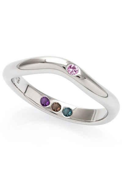 Carolin Stone Jewellery Silberring »Poliert mit Steinen Hidden Inner Strength Ring«