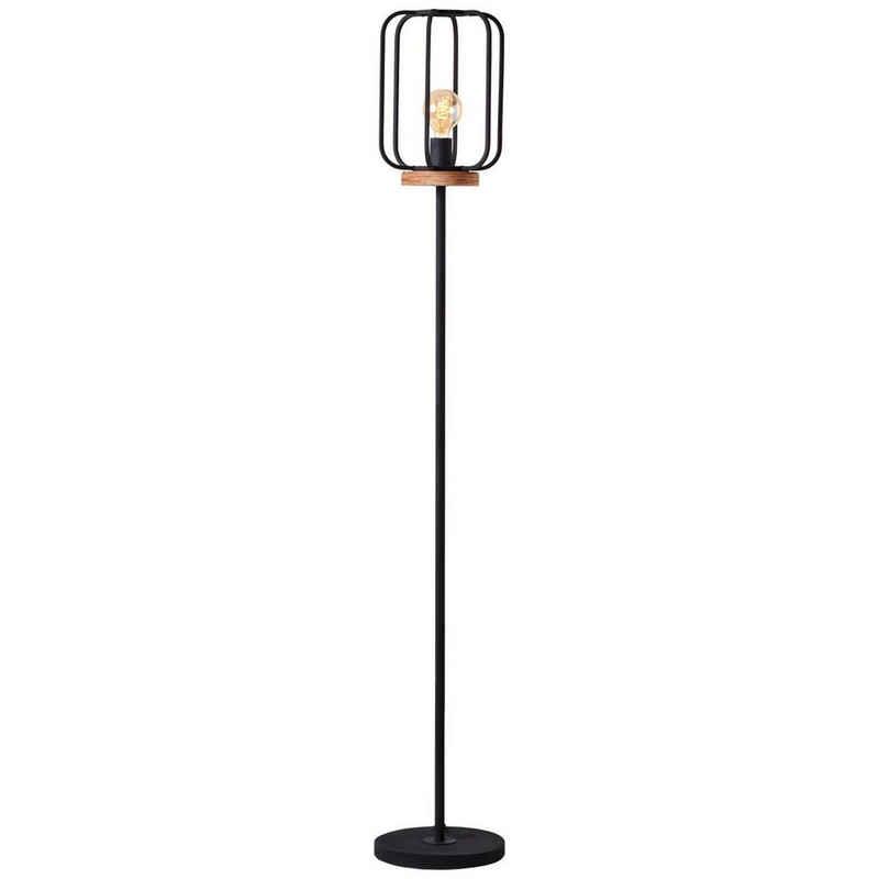 Brilliant Leuchten Stehlampe »Tosh«, 1flg antik holz/schwarz korund