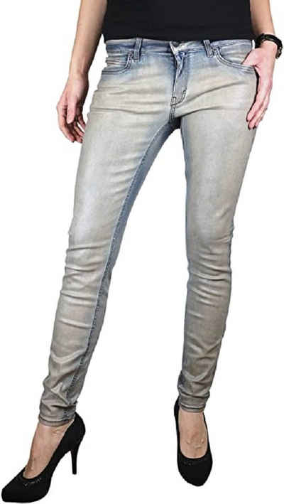 Drykorn Skinny-fit-Jeans »Damen Jeans Hose Skinny Stretch Röhre washed low rise«