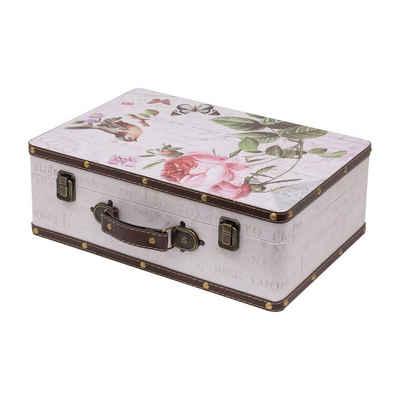 HMF Aufbewahrungsbox »Vintage Koffer«, aus Holz, Deko Rose, 38 x 26 x 13 cm
