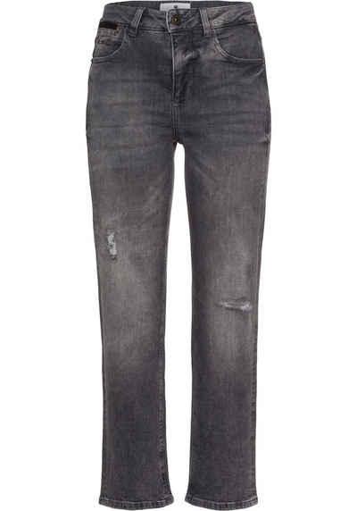 Freeman T. Porter Straight-Jeans mit Reparatur-Nähten