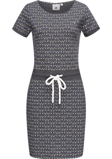 PEAK TIME Sommerkleid »L80023« leichtes Jersey Strandkleid mit Kordel