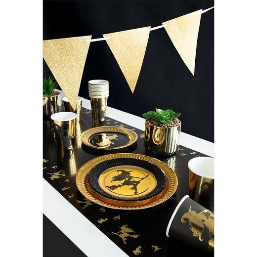 Folat Kindergeschirr-Set »Partyset Golden Witch, 34-tlg.«
