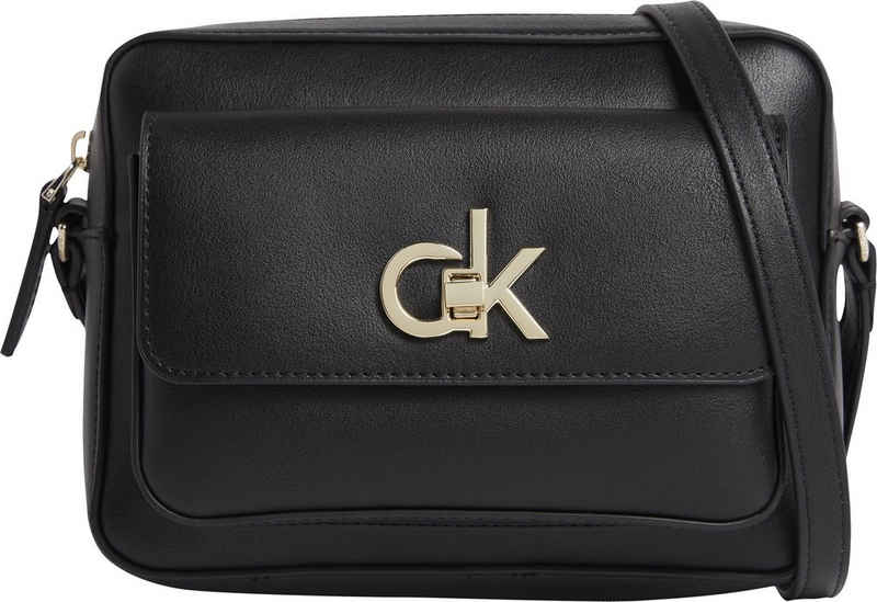 Calvin Klein Mini Bag »RE-LOCK CAMERA BAG W/FLAP PKT LG«, mit goldfarbenen Details