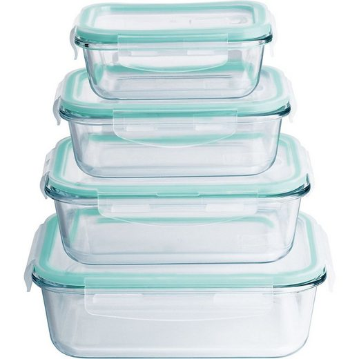 MAXXMEE Frischhaltedose »8-tlg. Borosilikat-Glas-Frischhaltedosen Set«