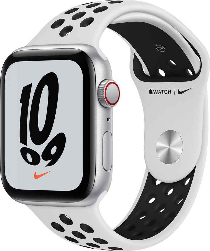 Apple Watch Nike SE GPS + Cellular, 44mm Smartwatch (4,52 cm/1,78 Zoll, Watch OS 7)