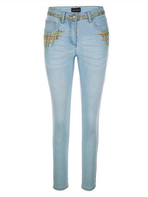 Hosen - Amy Vermont 7 8 Jeans mit bunter Stickerei ›  - Onlineshop OTTO