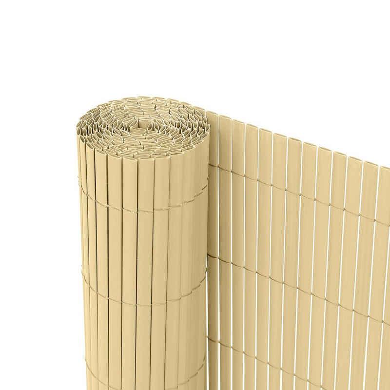 Ribelli Balkonsichtschutz Zaunsichtschutz PVC ca. 0,8 x 3m bambus