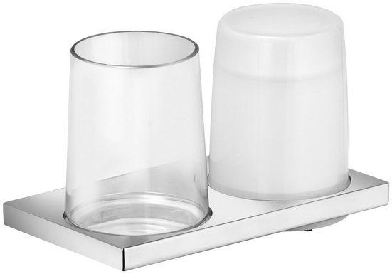 KEUCO Bad-Accessoire-Set »Edition 11«, Glas und Seifenspender aus Echtkristallglas