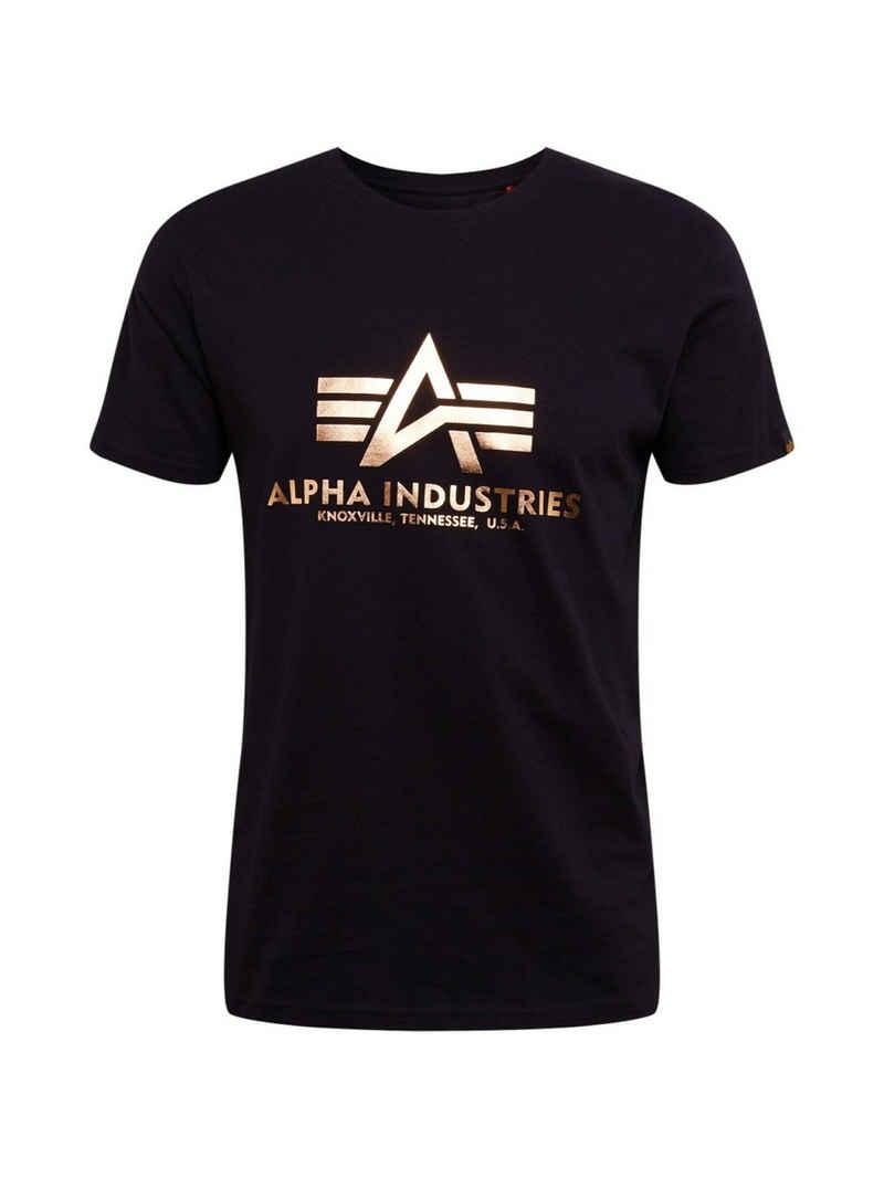 Alpha Industries T-Shirt »Basic T Foil Print« (1-tlg)