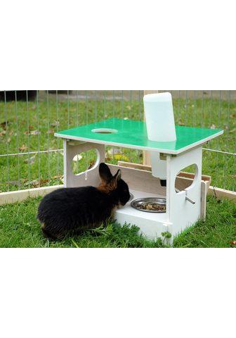 dobar Futterstation »Hopsi« Edelstahl Holz