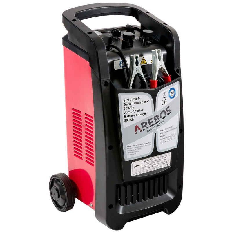 Arebos »KFZ Starthilfe- und Batterieladegerät für Batteriekapazitäten bis 800 Ah mit Booster-Funktion, für 12V PKW und 24V LKW« Starthilfegerät, 12 V/ 24 V 50 A 40-800 Ah
