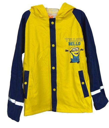 Minions Regenjacke Outdoor Buddel Matsch Jacke Jungen Funktionsjacke gelb blau