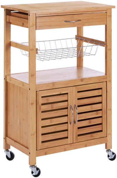 Küchenwagen »Bambus«, B/H/T: 56/89/36 cm