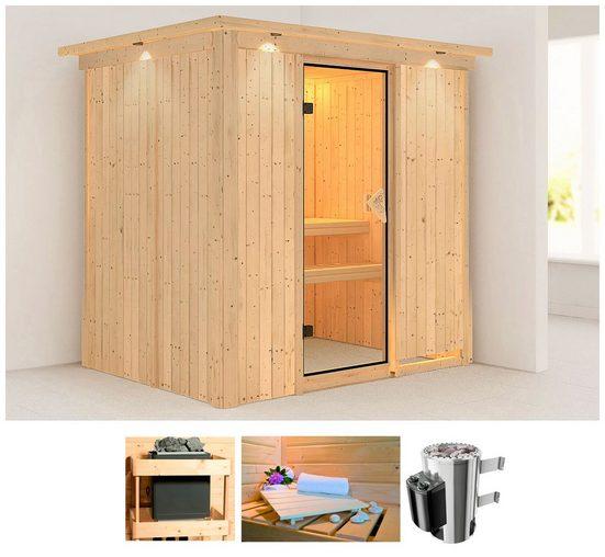 KARIBU Sauna »Anki«, 210x165x202 cm, 3,6 kW Plug & Play Ofen mit int. Steuerung