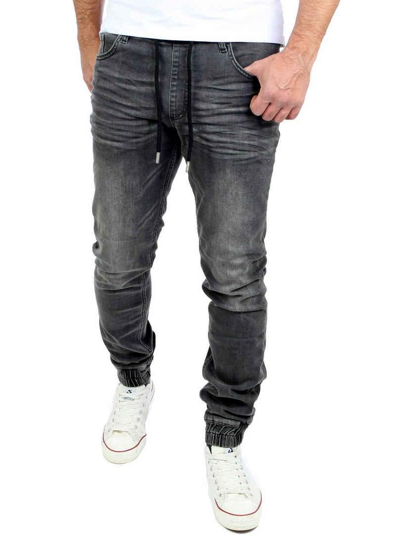 Reslad Stretch-Jeans »Reslad Used Look Jeans-Herren Slim Fit Jogging-Hos« Stretch Jogging-Denim Slim Fit