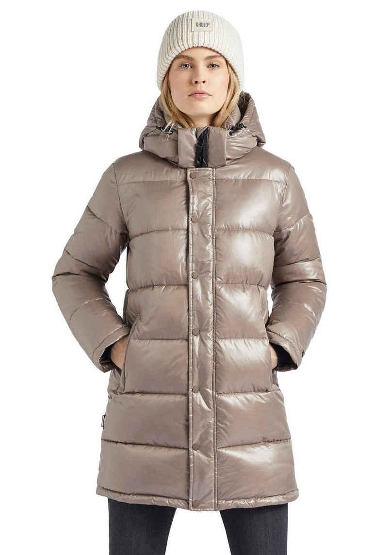 khujo Steppjacke »Wencke Shiny« Damen Winterjacke mit leicht glänzenden Obermaterial