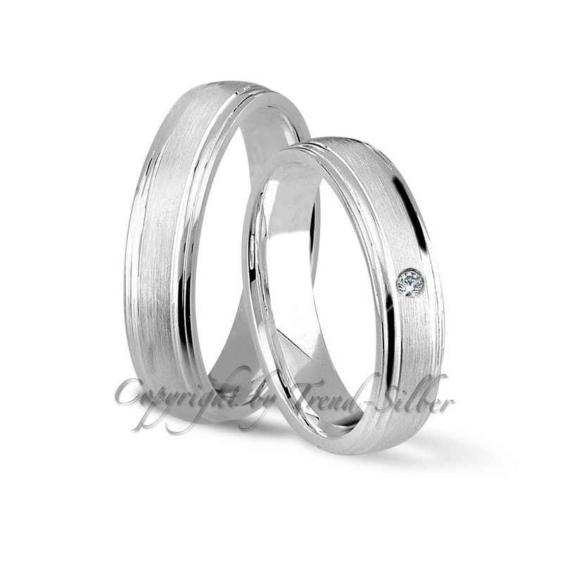 Trauringe123 Trauring mit Gravur »Trauring aus 925er Silber, GRAVUR GRATIS J8«