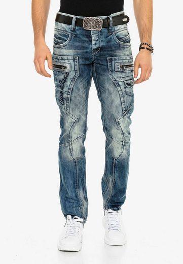 Cipo & Baxx Bequeme Jeans »Baron« im lässigen Biker-Stil