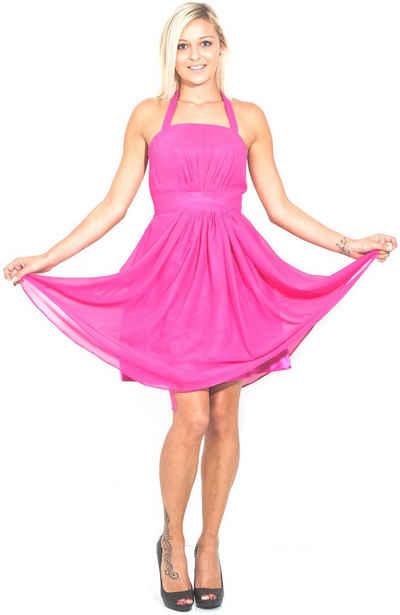 AvaMia Cocktailkleid »AvaMia-Kleid-8700« Cocktailkleid, Festliches Chiffon Abendkleid, Chiffonkleid, Kleid, Festtagskleid, Festtagsmode knielang