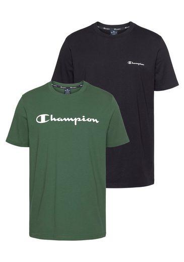 Champion T-Shirt »CREWNECK T-SHIRT« (Packung, 2-tlg., 2er-Pack)