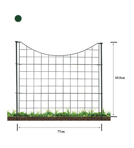 HC Garten & Freizeit Metallzaun »Teichzaun Unterbogen 11-tlg. Komplettset«, 5 Zaunelemente 77 x 65,5 cm (BxH)