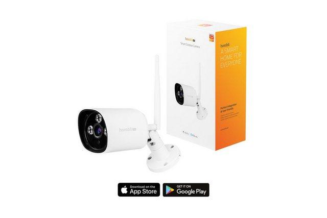 Hombli »Smart Outdoor Kamera« Smart Home Kamera (Außenbereich, 1080p Full HD, wasserdicht nach IP66, Bewegungserkennung, Nachtsicht-Funktion, Gegensprechfunktion, Kompatibel mit Alexa und Google Assistant, Fernsteuerung über kostenlose Hombli App)