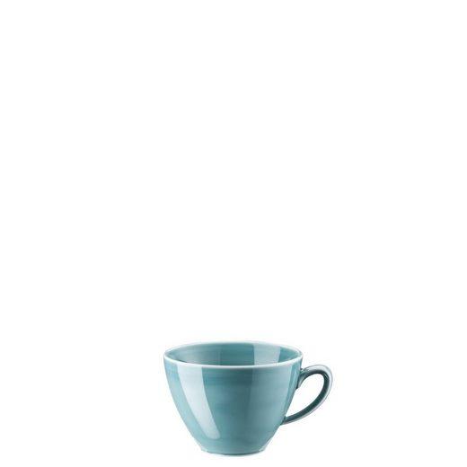 Rosenthal Tasse »Mesh Colours Aqua Kombi-Obertasse«, Porzellan