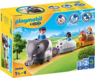 Playmobil® Konstruktions-Spielset »Mein Schiebetierzug (70405), Playmobil 1-2-3«, (9 St), Made in Europe