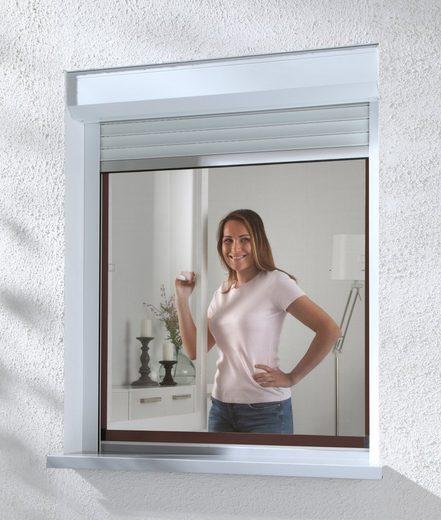 hecht international Insektenschutz-Fenster »COMPACT«, braun/anthrazit, BxH: 130x150 cm
