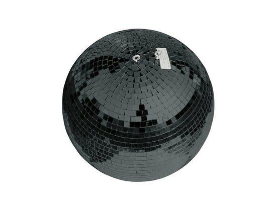 SATISFIRE Discolicht »Spiegelkugel 30cm - schwarz - Safety - Diskokugel Echtglas - 10x10mm Spiegel PROFI«
