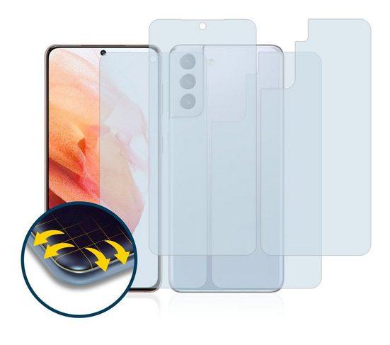 BROTECT Schutzfolie »für Samsung Galaxy S21 (Vorder + Rückseite)«, (2 Stück), Full-Cover 3D Curved matt entspiegelt