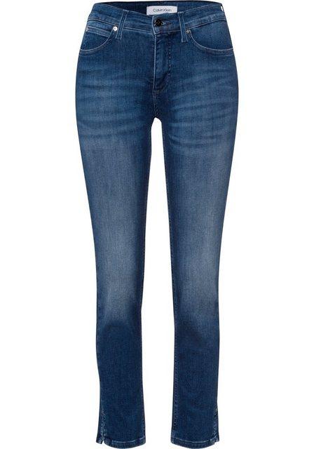 Hosen - Calvin Klein Slim fit Jeans »MID RISE SLIM ANKLE« mit Calvin Klein Logo Badge ›  - Onlineshop OTTO