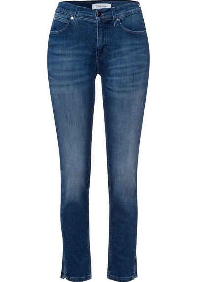 Calvin Klein Slim-fit-Jeans »MID RISE SLIM ANKLE« mit Calvin Klein Logo-Badge