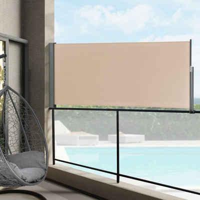 Pro-tec Seitenarmmarkise »Montijo« Seitenmarkise Sichtschutz Windschutz in verschiedenen Farben und Größen