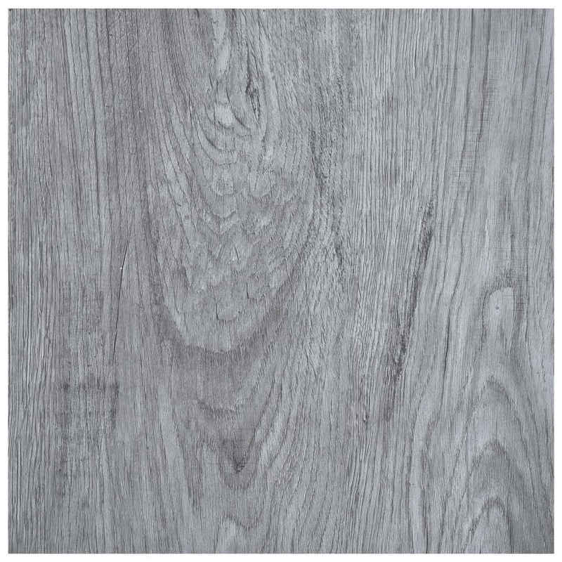 vidaXL Fußboden »vidaXL Laminat Dielen Selbstklebend 5,11 m² PVC Hellgrau«