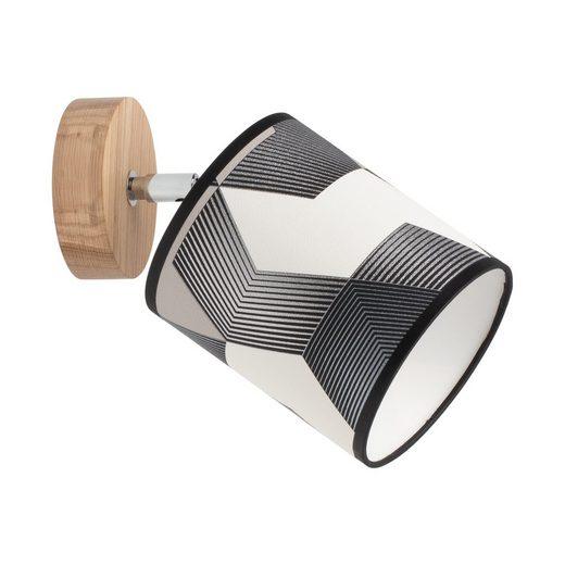 BRITOP LIGHTING Wandleuchte »ESPACIO«, Schirme aus laminierter Tapete, Baldachin aus Eichenholz mit FSC®-Zertifikat, bewegliche Spots, passende LM E27 / exklusive, Made in Europe