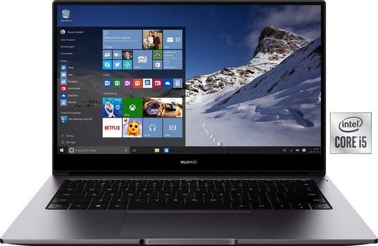 Huawei MateBook D 14 Intel i5 Notebook (35,56 cm/14 Zoll, Core i5, 512 GB SSD, Kostenloses Upgrade auf Windows 11, sobald verfügbar)