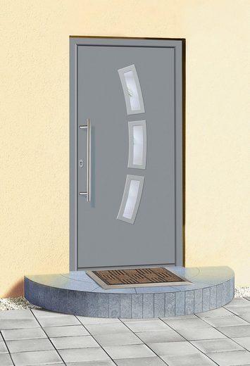 KM Zaun Haustür »A07«, BxH: 98x208 cm, grau, in 2 Varianten