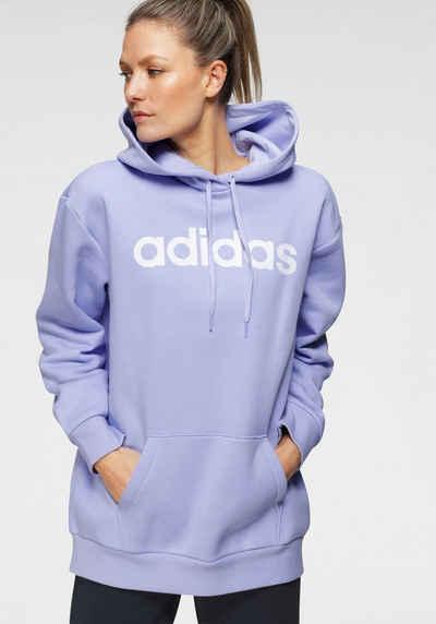 adidas Performance Kapuzensweatshirt »WOMEN LINEAR OVERSIZED FLEECE HOODIE«