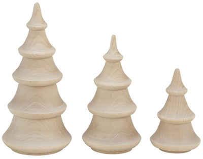 OTTO products Dekobaum »Ellin« (Set, 3 Stück), gedrechselt