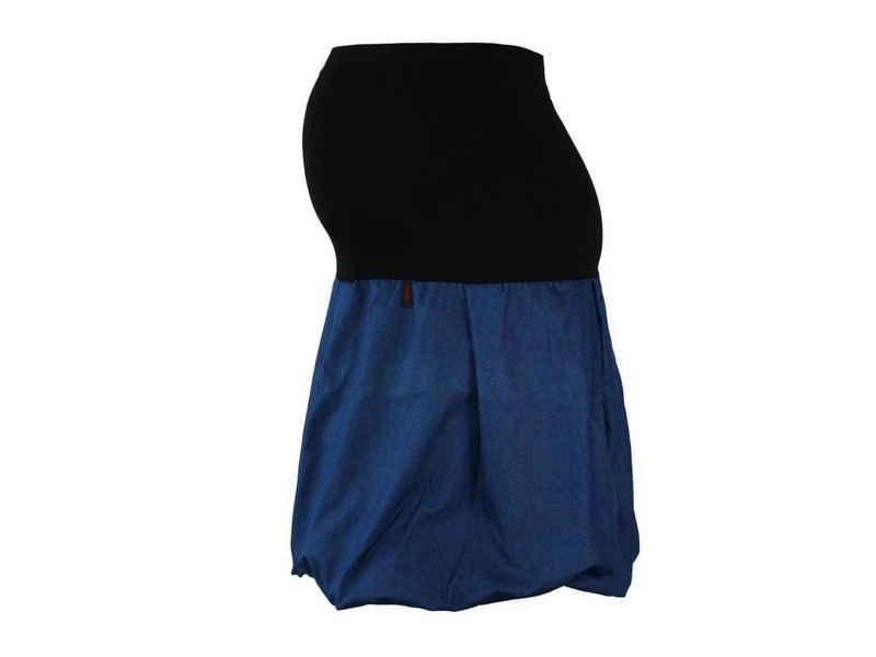 dunkle design Umstandsrock »Jeans Ballon Blau Peach« elastischer Bund