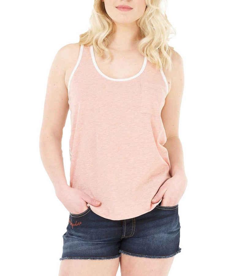 Picture Tanktop »Picture Milky Tank-Top hautfreundliches Damen Sommer-Shirt Freizeit-Shirt mit offener Rückenpartie Weiß/Rosa«