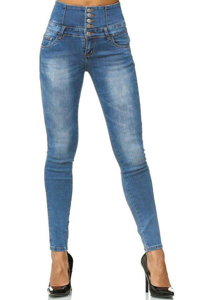 egomaxx -  High-waist-Jeans »2547« High Waist Hose MELANI
